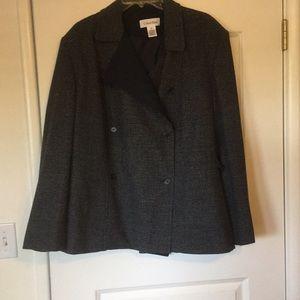 Calvin Klein navy tweed blazer